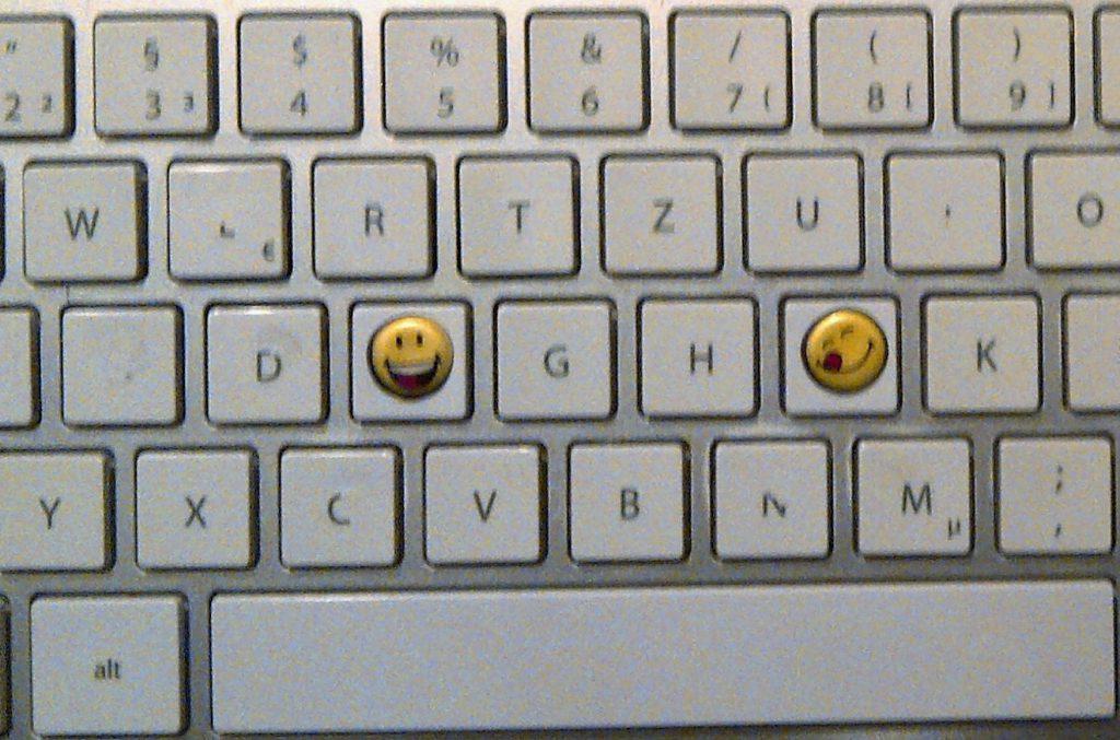 Tastatur mit Tastmarken Smiley