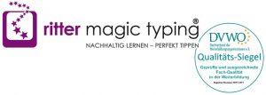 Logo ritter magic typing und das DVWO-Qualitätssiegel